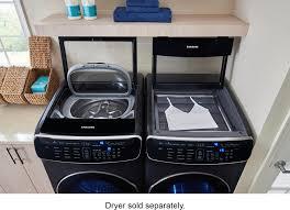 samsung flexwash 6 0 cu ft washer with steam black wv60m9900av