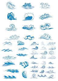 vector sea waves symbols vector vector graphics blog lovin