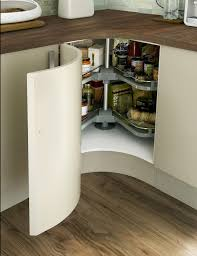 Concave Curved Base Unit With Premium Corner Carousel Depolama - Kitchen cabinets base units