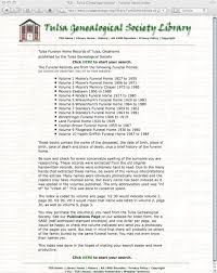 tulsa funeral homes genealogyclassblog archive funeral home records of tulsa
