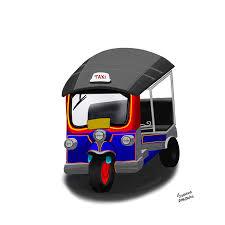 february 23rd rickshaws sketchdaily