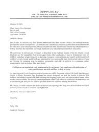 cover letter examples for teachers new sample of cover letter for