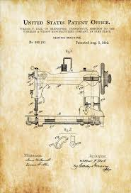 Sewing Room Decor Sewing Machine Patent Sewing Room Decor Craft Room Decor