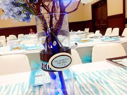 blue brown boy baby shower centerpiece decor sf bay area wedding