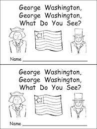george washington kindergarten emergent reader president u0027s day tpt