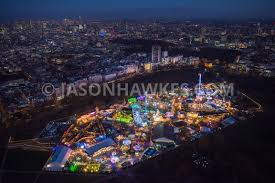 aerial view aerial view of winter hyde park