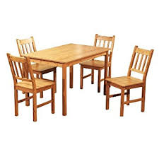 Bamboo Dining Room Chairs Amazon Com Target Marketing Systems 5 Piece Bamboo Indoor Dining
