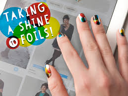 tutorial nail art foil nail klub prove your metal with our nail foil tutorial