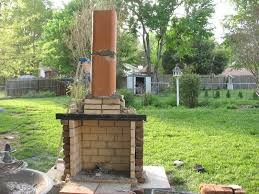 diy outdoor fireplace cost image of build backyard pavilion