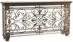 scrolled iron console table western sofa tables free shipping