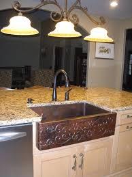 Kitchen Island Decor Ideas Decorating Stainless Steel Apron Sink On Wooden Kitchen Cabinet