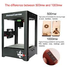 supercarver 1000mw miniature laser engraving machine box machine