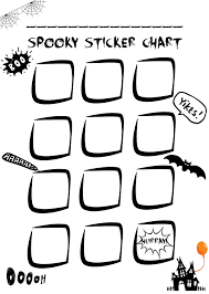 sticker chart free halloween printable mums u0027 days