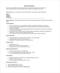 Resume Samples For Freshers Engineers by 10 Engineer Resumes Free Sample Example Format Download Free