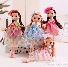 new ornament figures toys plastic princess doll and easy dress and