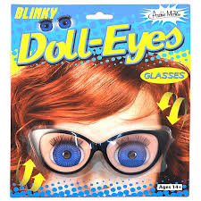amazon com holographic blinking doll eyes retro blinky glasses