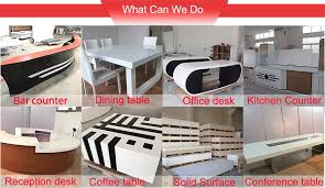High Top Conference Table Top Table With Stools Solid Surface Bar Counter