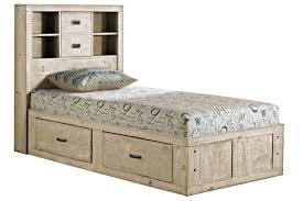 Captain Bed With Trundle White Twin Captains Bed