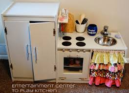 play kitchen from old furniture createinspiremotivate entertainment center to play kitchen