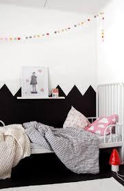 chambre fille noir et blanc peinture chambre fille ado noir et blanche