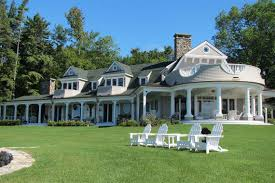 new houses being built with classic new england style custom vacation homes new england lake house