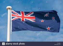 Nee Zealand Flag New Zealand Flag Flying Stockfotos U0026 New Zealand Flag Flying