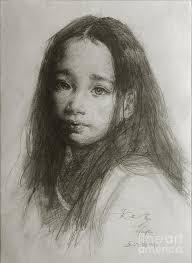 drawn sketch portrait pencil and in color drawn sketch portrait
