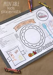 kids placemats kids thanksgiving placemat 12 free thanksgiving printables my