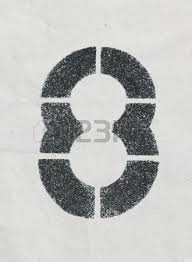 pencil sketch of numbers on vintage paper texture stock photo