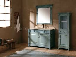 Antique Style Bathroom Vanity by Country Bathroom With Grade A Oak Ancient Ocean Blue Bathroom