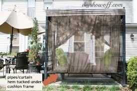 Patio Swing Frame by Patio Swing Makeoverdiy Show Off U2013 Diy Decorating And Home