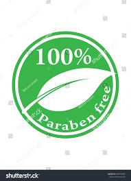 hundred percent paraben free green vector stock vector 633044999