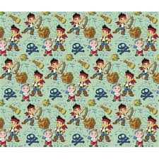 neverland pirates wrapping paper