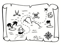 Coloriage carte au trésor  dessins à imprimer gratuitement