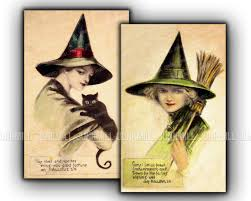 victorian witches large digital printable images set of
