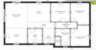 plan de maison 4 chambres avec age maison 115m2