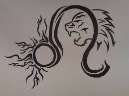 tribal leo sun sign design tattoos