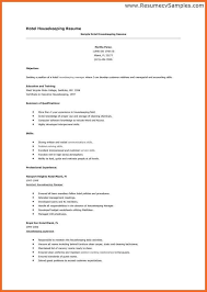 House Keeping Resume Examples Or Resumes Lukex Co