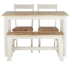 Buy Collection Chicago Solid Wood Table Bench   Chairs At Argos - Kitchen table and bench