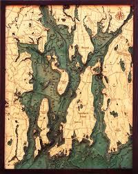 Map Of Newport Ri Narragansett Bay Chart Newport Rhode Island Wall Map