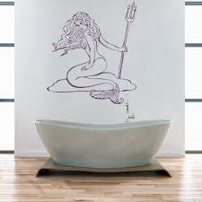 wandtattoo wt848e meerjungfrau badezimmer aufkleber bad wc