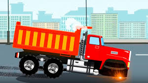 the red dump truck cartoons for children animations for kids