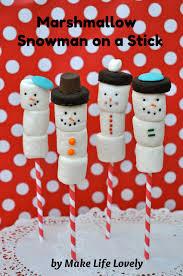 snowman marshmallows marshmallow snowman on a stick make lovely