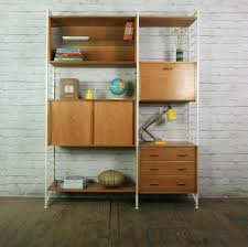 Wall Unit Bedroom Sets Sale Ladderax Retro Vintage Teak Mid Century Wall Unit Shelves Office