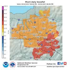 Ithaca Map Brace Yourselves Major Snowstorm Expected To Hit Ithaca