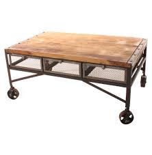 caster coffee table vintage living room design with brooklyn