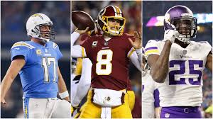 chargers redskins and vikings claim victory on thanksgiving