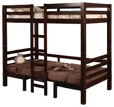 Designer Bunk Beds Nz by Twin Over Twin Convertible Bunk Loft Bed Youth Bunkbed Table Bench
