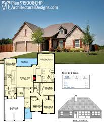 plan 915008chp one level european house plan with open layout