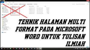 cara membuat nomor halaman yang berbeda di word 2013 cara membuat nomor halaman berbeda pada microsoft word how to